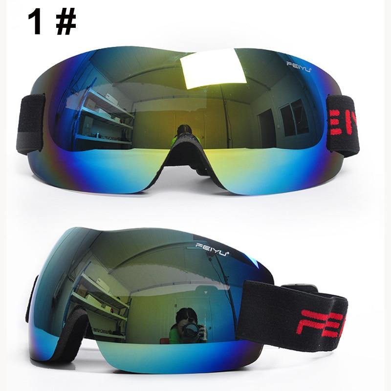 New Fashion Frameless Ski Goggles Anti-fog UV400 Eye Protectio N Ski Glasses Snowboarding Googles Motorcycle Sun Glasses
