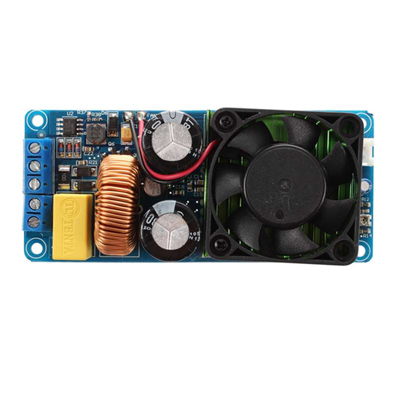 IRS2092S 500W Mono Channel Digital Amplifier Class D HIFI Power Amp Board With FAN