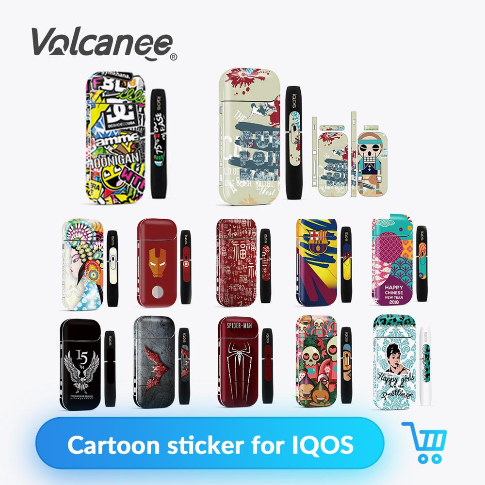 Volcanee Cartoon Sticker Case For IQOS Cover Sticker Protection Stickers For IQOS 2.4 Plus E Cigarette Box Mod Sticker Vape Case