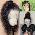 HD прозрачные кружевные парики предварительно 360 парик шнурка человеческих волос натуральные волнистые парик для Для женщин Невидимый Полн...