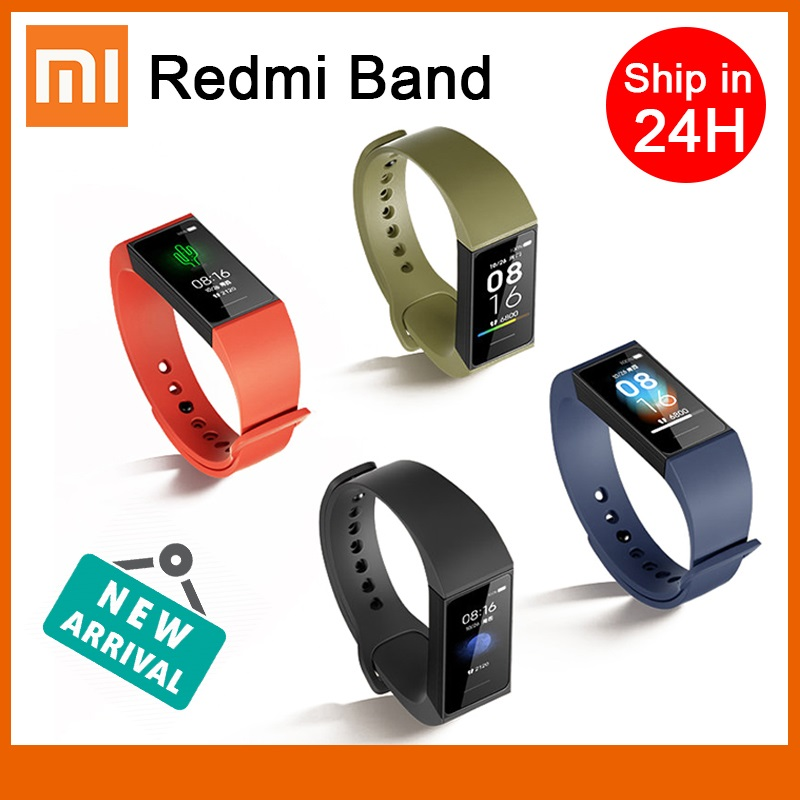 Xiaomi Redmi Band Smart Heart Rate Fitness Sport Tracker Bluetooth 5.0 Waterproof Bracelet Touch Large Color Screen Wristband