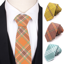 New Plaid Tie for Men Women Fashion Skinny Cotton Necktie Casual Neck ties Wedding Party Boys Suits Ties Gravatas