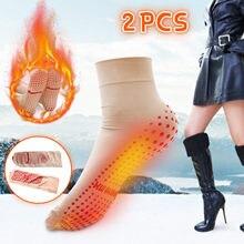 Unisex meias de inverno auto aquecimento quente turmalina meias alívio da dor socking preto masculino feminino manter quente casa quarto meias roupas