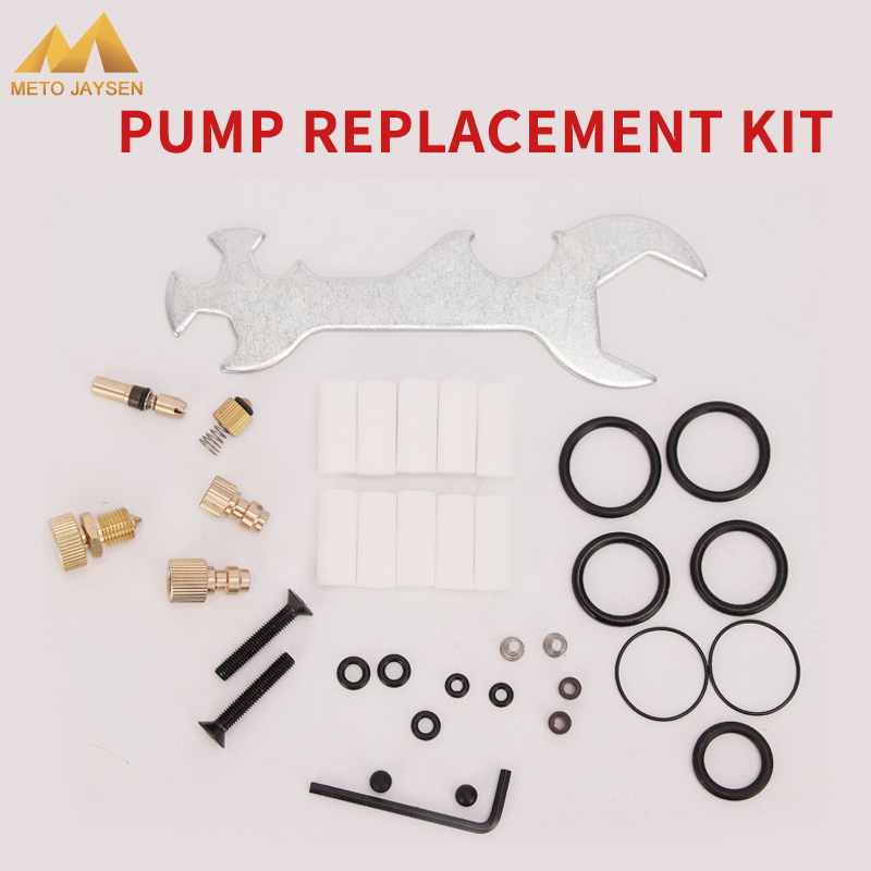 High Pressure Pump Spare Parts Fix Box Replacement Kit Copper Piston Wrench Bleeder Screw Air Pump Accessories Kits 37pcs/set