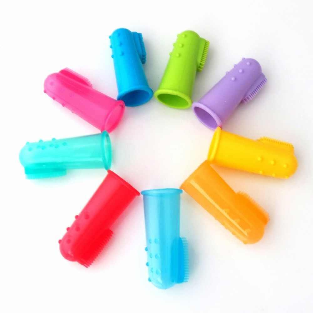 ใหม่สีสันสดใสออกแบบปลอดสารพิษซิลิโคนนุ่มสัตว์เลี้ยงแปรงสีฟันสุนัขแปรง Bad Breath Tartar สัตว์เลี้ยงฟัน Care เครื่องมือทำความสะอาด