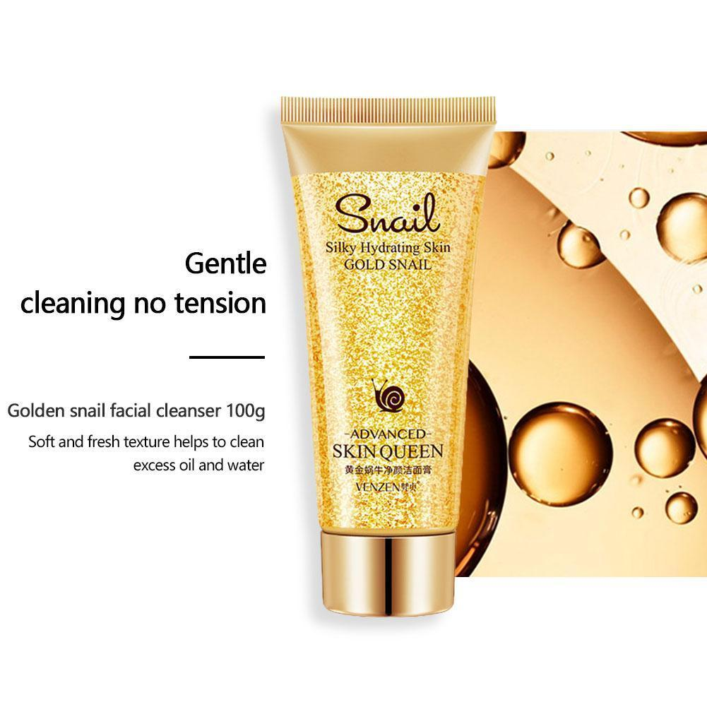 Gold Snail Cleanser Moisturizing Cleaning Pores Control Blackheads Skin Remove For Sensitive Washing Oil Product Fac K5A2 image