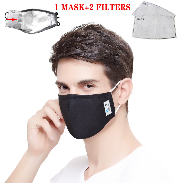 Haute qualité 5 couches PM2.5 charbon de bambou activé prévenir Anti-virus formaldéhyde mauvaise odeur bactéries preuve visage bouche masque