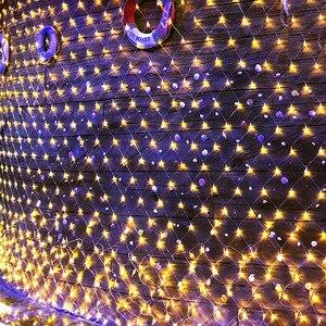 Thrisdar 3*2 m 10*1 m 6*4 m led 그물망 led 문자열 빛 야외 정원 크리스마스 트리 windows 커튼 요정 문자열 갈 랜드 빛