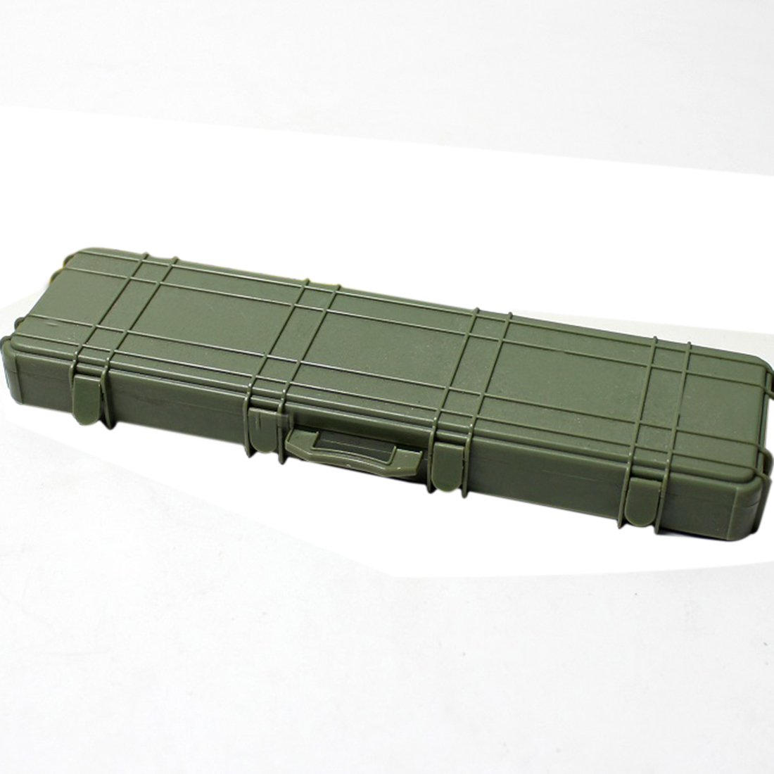 Soldier Model Weapon Storage Box Case Model Prop For 1:6 12 Doll Situation Simulation Action Figure Model Toys-Olive Drab/Yellow