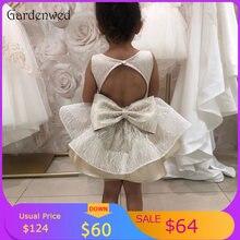 Милые детские вечерние платья серебристого цвета с блестками
