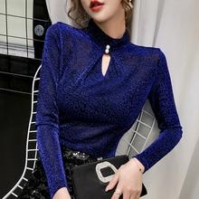 2020 Spring Leopard shirts plus size t-Shirt Womens Long Sleeve T Shirt women vintage Turtleneck top