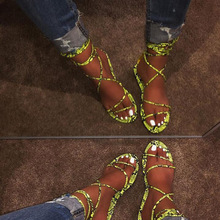 2019 Women's Flat Sandals Summer Outside Leopard Snake Print Shoes