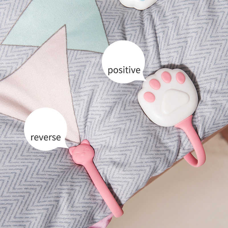 4Pcs Sheet Holder Quilt Buckle Cat Claw Quilt Clip Holder Bed Sheet Clip Non-Slip Quilt Cover Anti-Move Buckle Fixer Clip Clothing Pegs