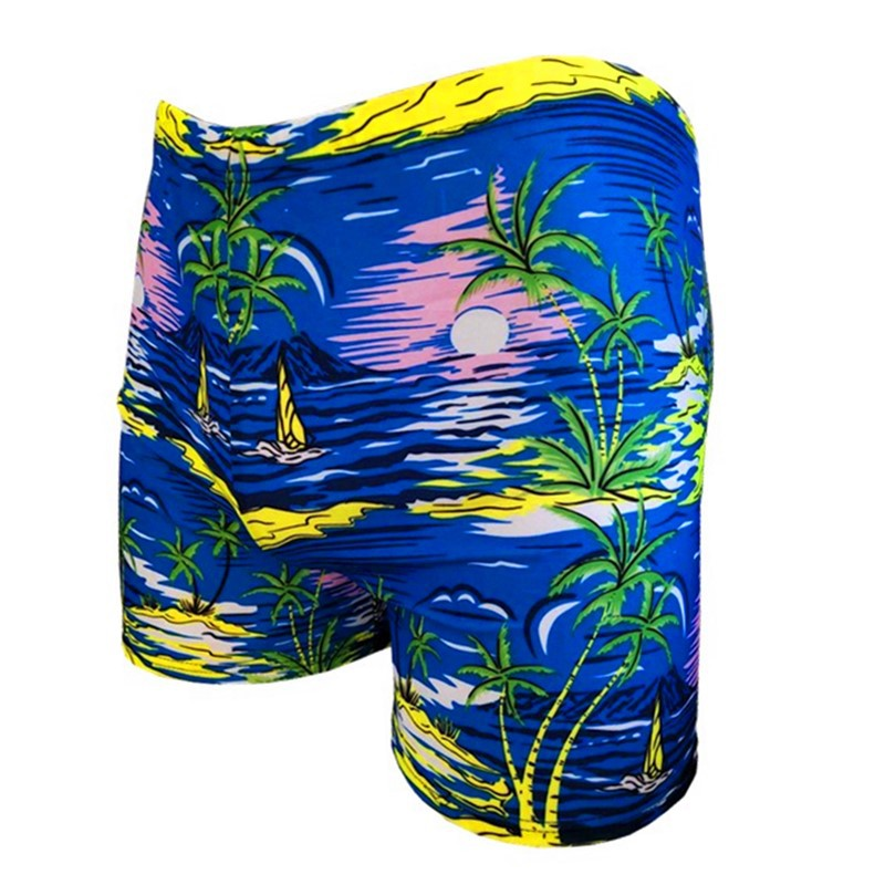 New Style Men's AussieBum Floral Swimming Trunks-Style Swimming Hot Springs Quick-Dry Soft And Comfortable Men's Bathing Suit Be