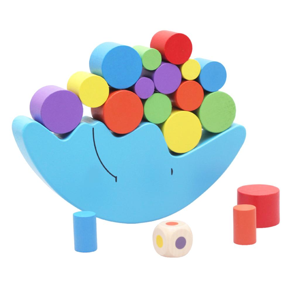 Wooden Moon Balancing Frame Colorful Block Building Promote Patience Improve Brain Early Intellectual Development Kids Toy