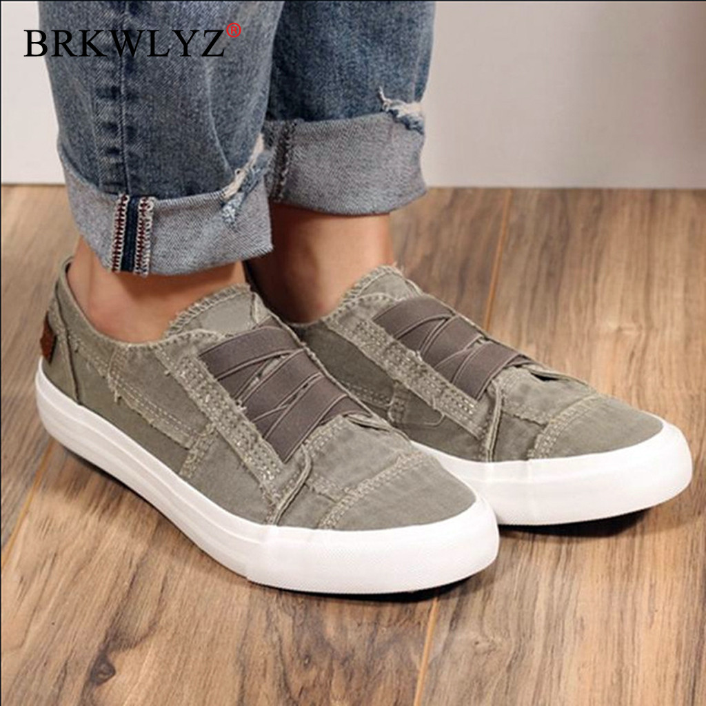 Shoes Woman Fashion Women's Peas Shoes Summer Casual Flat-Bottom Sneakers Elastic Band Shoes Loafers Women Flat Shoes