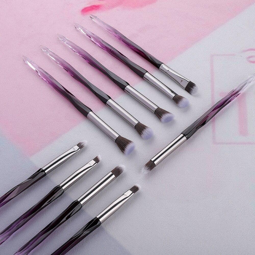 FLD  Eye Brush  Diamond Makeup Brushes Set Eye Shadow Lip Eyebrow Brushes High Quality Professional Lip Eyeliner Tools