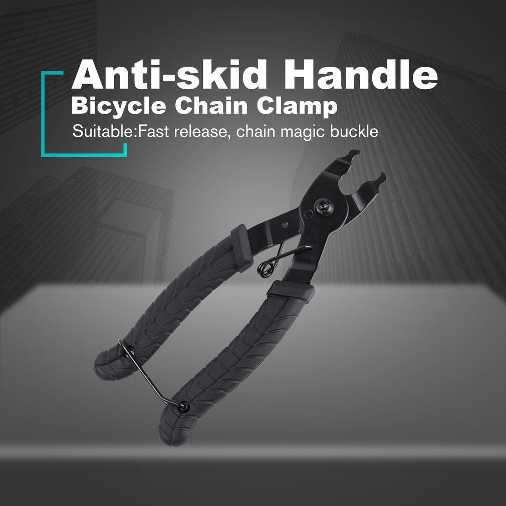 Bicycle Chain <font><b>Clamp</b></font> Quick Link Button Mount Rivet Closure Overhaul Removal Install Plier <font><b>Bike</b></font> Repair Service Tool Sale image
