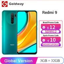 Versão global xiaomi redmi 9 3gb 32gb/4gb 64gb smartphone helio g80 octa núcleo 13mp quad câmera 6.53