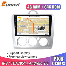 Eunavi 2 din 9 inch Android 9 Car Radio Multimedia Player GPS Navigation For Ford focus 2 2004-2011 2din stereo headunit IPS BT(China)