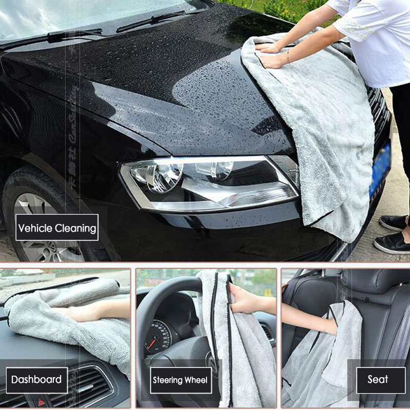 40x100CM Microfiber Towel Car Wash Drying Cloth Auto Window Cleaning Tool Cleaning Strong Water Absorption For Auto Accessories
