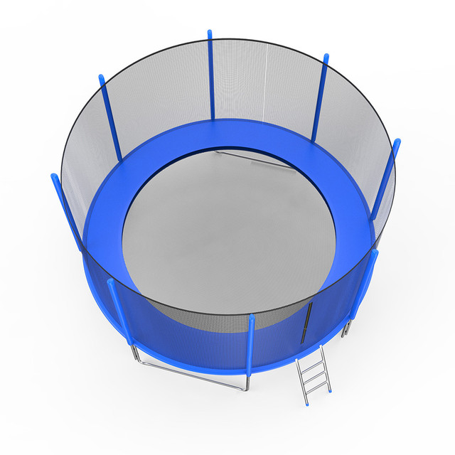 12 FT Trampoline With Large Safety  3