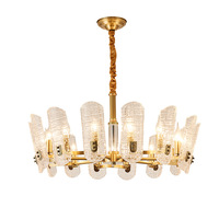 2019 new light luxury crystal Pendant Lights living room atmosphere restaurant luxury American copper lamps WF924315