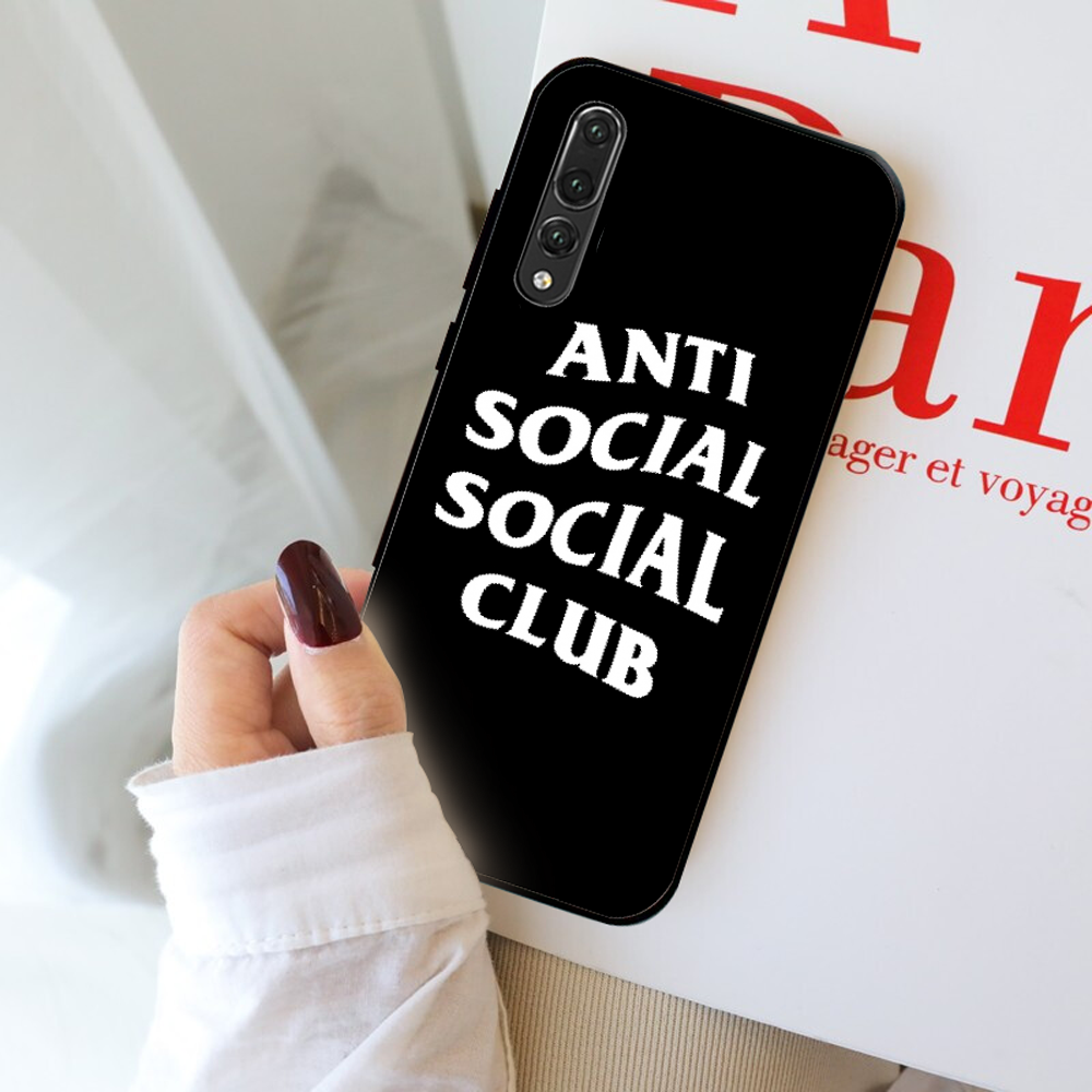 Anti Social Social Club Custom Photo Soft Phone Case For Huawei P10 20 pro lite plus P7 2019