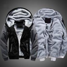 Men Hoodies Winter Warm Jacket Fashion Thick Mens Hooded Sweatshirt Male Warm Fur Sportswear Tracksuits Mens Coat S 5XL size
