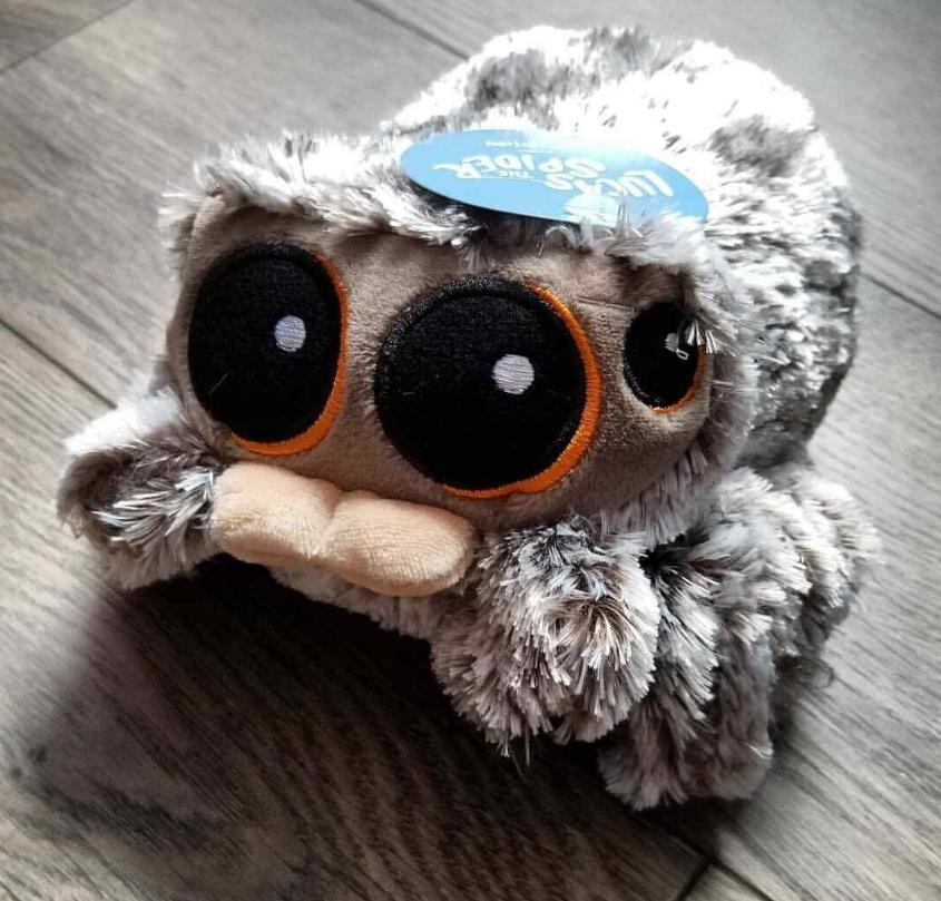 """NEW DEFECTIVE VOICE BOX OFFICIAL LUCAS THE SPIDER 1ST EDITION PLUSH 7/"""" TOY"""