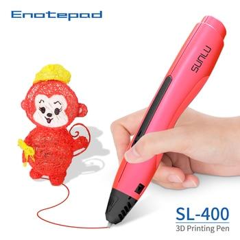 Enotepad-Bolígrafo de modelado 3D S400, filamento PLA, regalo educativo profesional, 3DPen, sublimación, dibujo de un botón, regalos originales