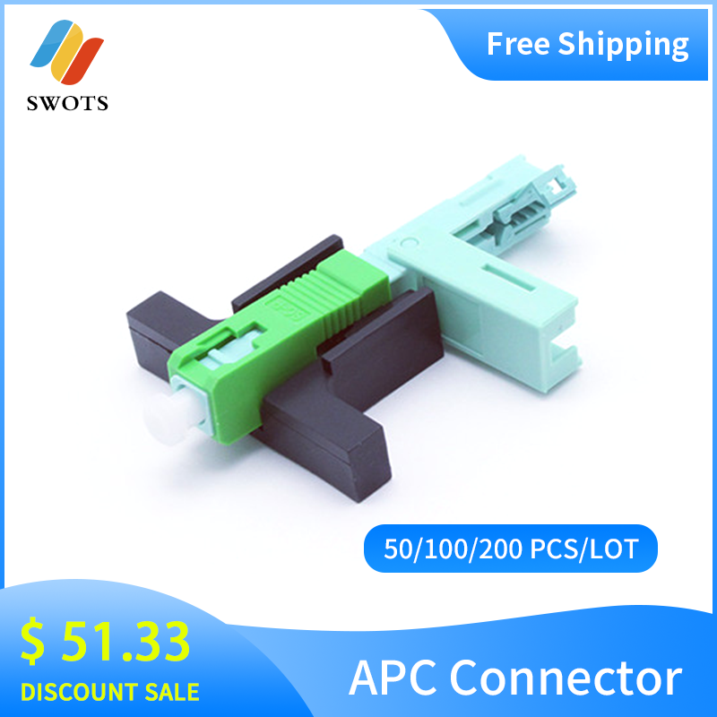Promotion SC APC Fast Connector Single-Mode Connector FTTH Tool Cold Connector Tool Fiber Optic Fast Connnector 53mm