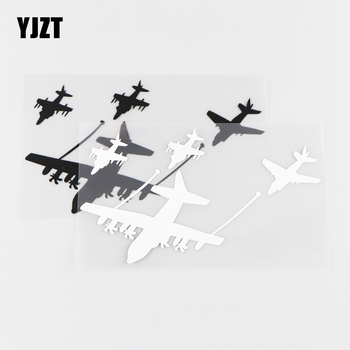 YJZT 16.5X9.2CM Funny Vinyl Decals Transport Crew Aircraft Car Stickers Black / Silver 10A-0021 image