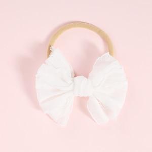 Image 4 - 10 יח\חבילה קשר מבולגן קשת סרט ניילון שיער להקת עבור תינוקת רך ניילון בגימור תינוקות אקססורי לשיער