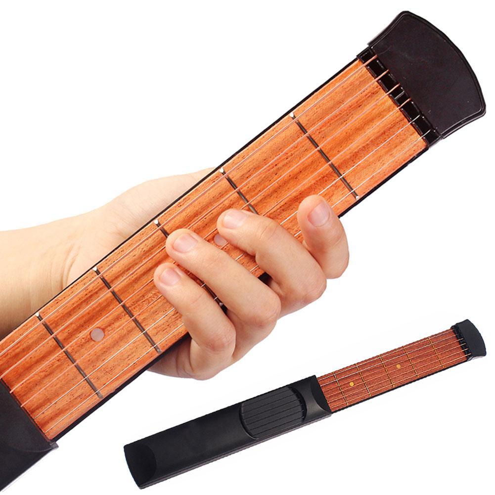 1 Pcs Portable Pocket Guitar 6 Fret Pocket Guitar Beginner Strings Chord Trainer Practicing Tool