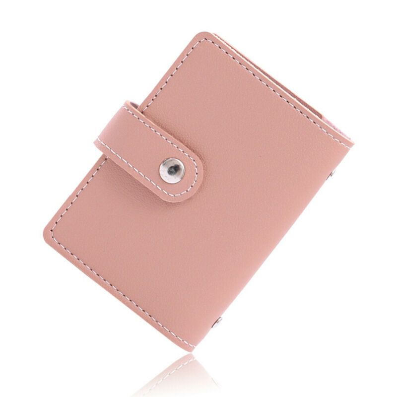 2020 HOT Women's 26 Bycobecy Credit Card Holder Wallet Metal RFID Vintage Aluminium Bag Crazy Horse PU Leather Bank Cardholder