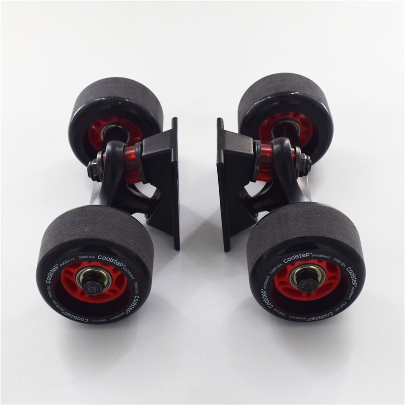 Image 5 - 4 pcs/lot Frosted Surface Skate Board Wheel with 72mm 70mm Diameter Skateboard Rodas 82A Black Long Drift Board Accessories-in Skate Board from Sports & Entertainment