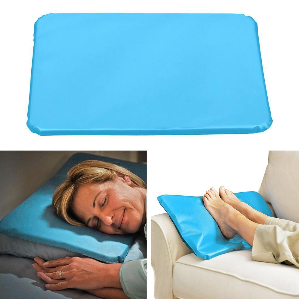 1pc Summer Ice Cold Pillow Massager Therapy Insert Sleeping Pillow Chillow Neck Gel Mat Aid Cooling Pillow Relief Pad PVC M Z5Q8