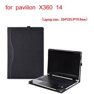 Image 1 - Чехол для Hp Pavilion X360 Convertible 14 Laptop Sleeve для 14 ce 14S CR0000 съемный чехол для ноутбука сумка Защитная кожа подарки