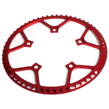 Cigüeñal para bicicleta Bike Chainring plegable bicicleta simple manivela anillo cadena redonda BCD 130MM 5 pernos Chainring 45 t/53/T/58/T(China)