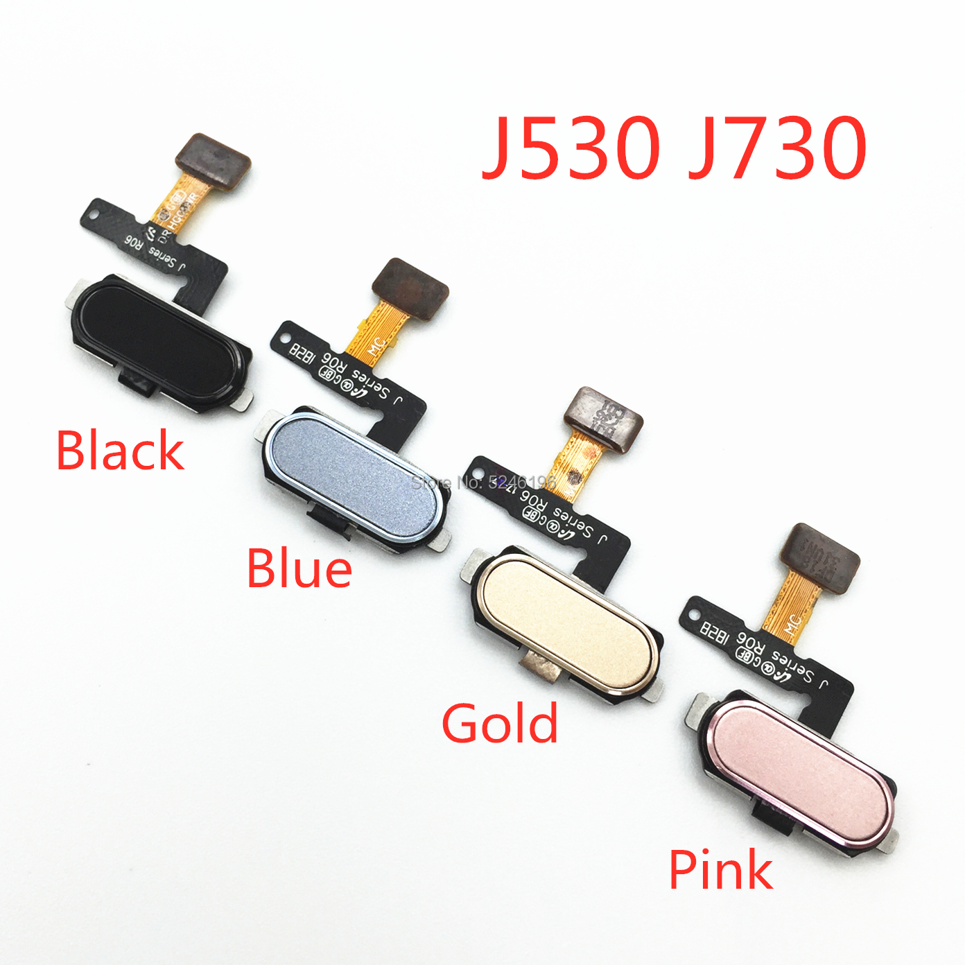 1pcs Home Return Key Menu Button Fingerprint Sensor Flex Cable For Samsung Galaxy J5 J7 Pro 2017 J530 J730 Original Parts