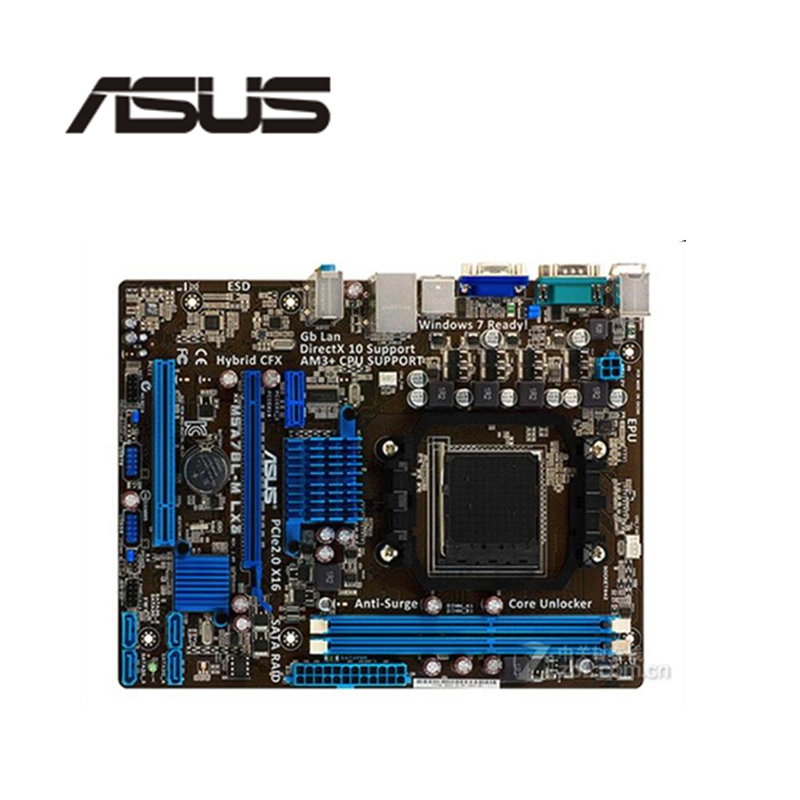 780L DDR3 MainBoard AM3 ASUS Original M5A78L M LX MotherBoard AMD 760G INTEL
