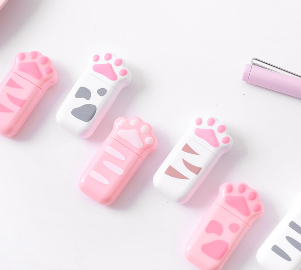 5mm*6m Long Cat Paw Correction Tape Roller White Sticker Kawaii Stationery Office School Supplies Student Gift Prizes Dairy