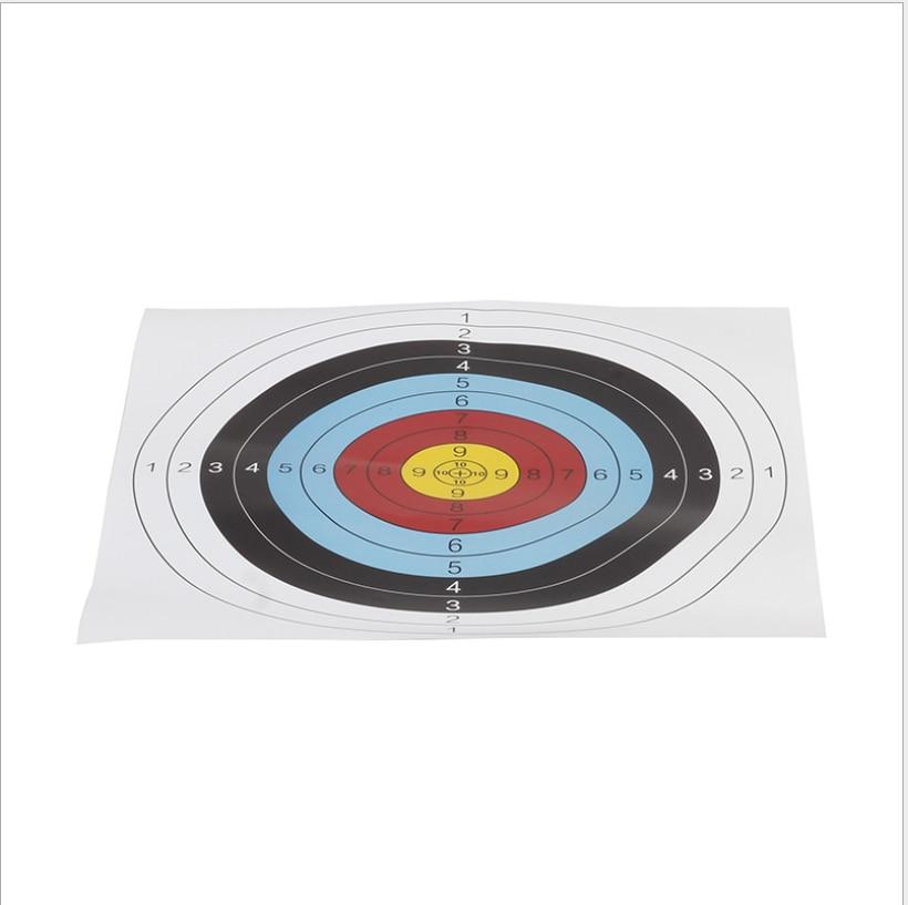 10 Pcs Practice Durable Shooting Target 40x40cm Outdoor Indoor Archery Targets Paper