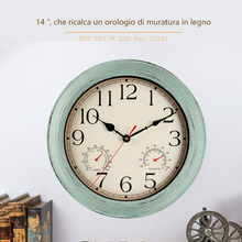 Wall-Clock Wooden Tuscan-Style Kitchen Vintage Silent Home Rustic-Country Function