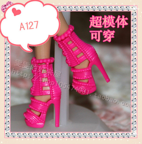 1/6 Doll Shoes Mix style High Heels Sandals Boots Colorful Assorted Shoes Accessories For Barbie Doll Baby Xmas DIY Toy 8