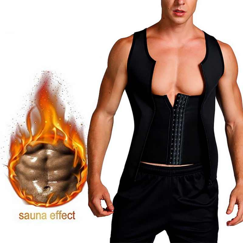 MJARTORIA 2020 New Men's Slimming Neoprene Vest Sweat Shirt Body Shaper Waist Trainer Shapewear Men Top Shapers Clothing Male