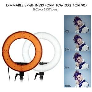 Image 4 - TRAVOR RL 12 LED halka ışık kısılabilir yüzük lamba 3200K/5500K fotoğrafçılık halka ışık lamba makyaj selfi ışığı 2M tripod standı