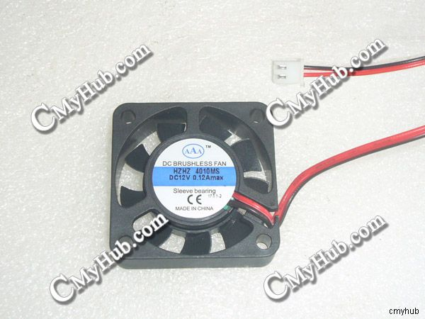 New For AAA HZHD HZHZ 4010MS DC12V 0.12A 4010 4CM 40mm 40x40x10mm 40*40*10mm 2Pin 2Wire Cooler Cooling Fan