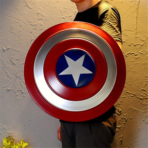 Image 4 - Le 1:1 Captain America bouclier complet métal rond bouclier arme Halloween super héros Cosplay accessoire enfants cadeau décoration